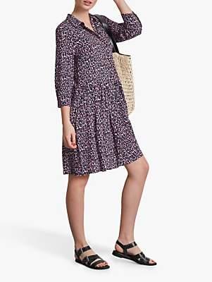 Hush Emanuelle Leopard Print Dress, Pink/Blue Ditsy