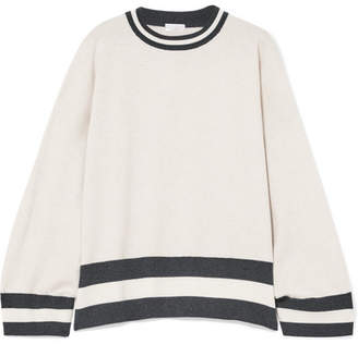 Brunello Cucinelli Oversized Striped Cashmere Sweater - Cream