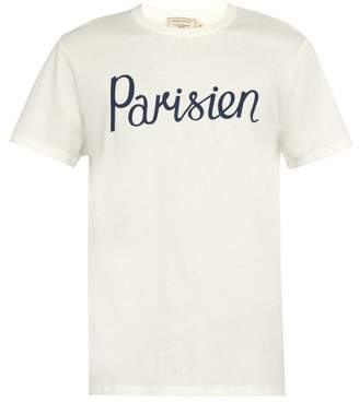 MAISON KITSUNÉ Parisian Crew Neck Cotton T Shirt - Mens - White