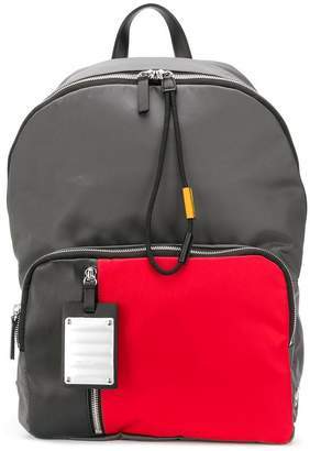 Fpm – Fabbrica Pelletterie Milano contrast pocket backpack