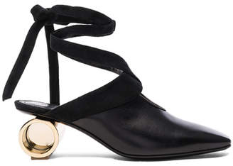 J.W.Anderson Cylinder Heel Leather Ballet Shoes
