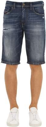 Diesel Distressed Cotton Denim Shorts
