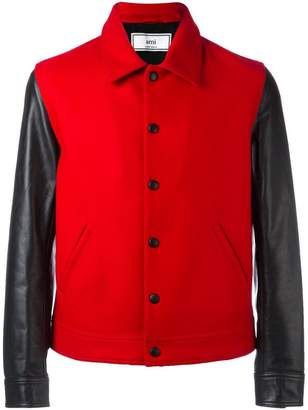 Ami Alexandre Mattiussi bimaterial press button jacket