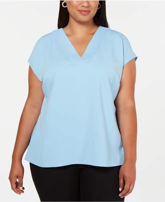 Alfani Plus Size V-Neck Top