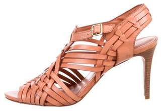 Tory Burch Leather Woven Sandals