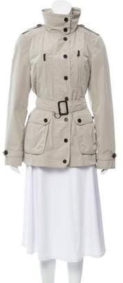 Burberry Belted Zip Front Jacket