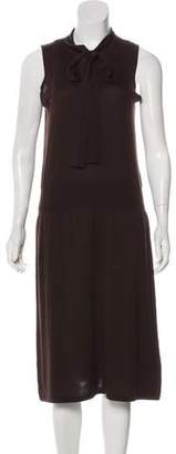Magaschoni Silk Midi Dress