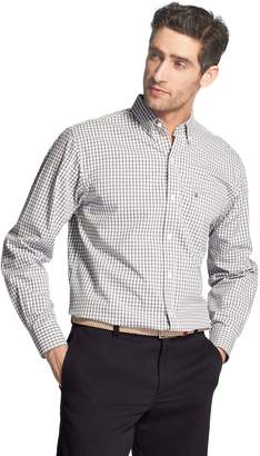 Izod Men's Premium Essentials Classic-Fit Plaid Button-Down Shirt
