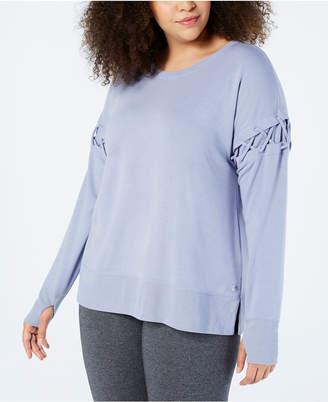 Macy's Ideology Plus Size Crisscross-Sleeve Sweatshirt, Created for