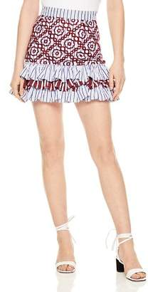 Sandro Rym Tiered Eyelet Mini Skirt