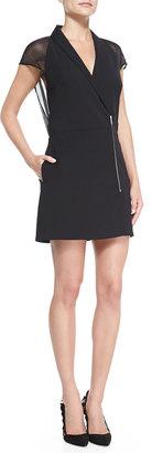 Andrew Marc x Richard Chai Sheer-Back Crepe Zip Dress $138.25 thestylecure.com