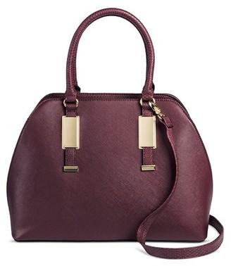 Mossimo Women's Faux Leather Dome Handbag Burgundy - Mossimo BlackTM $39.99 thestylecure.com