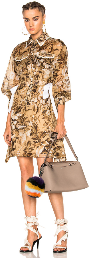 Fendi Long Sleeve Shirt Dress