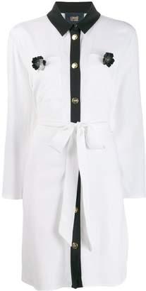 Class Roberto Cavalli contrast trim shirt dress