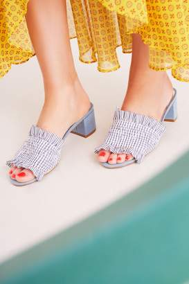 Jaggar STITCHED STRIPE BLOCK HEEL blue stripe