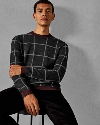 Ted Baker LEGIT Checked wool sweater