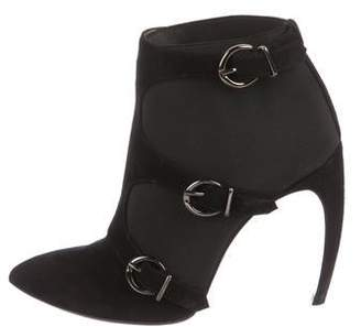 Walter Steiger Suede Buckle-Accented Ankle Boots