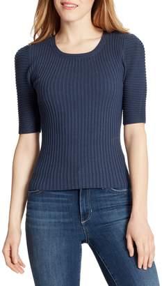 Ella Moss Elbow-Length Sleeve Top