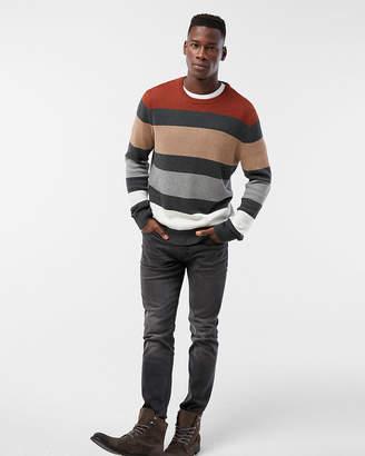 Express Stripe Color Block Cotton Sweater