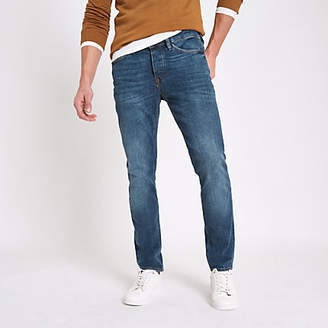 River Island Blue Dylan slim fit distressed jeans