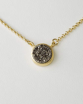 Rivka Friedman 18K Yellow Gold Clad Druzy Necklace