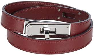 Hermes Kelly leather necklace