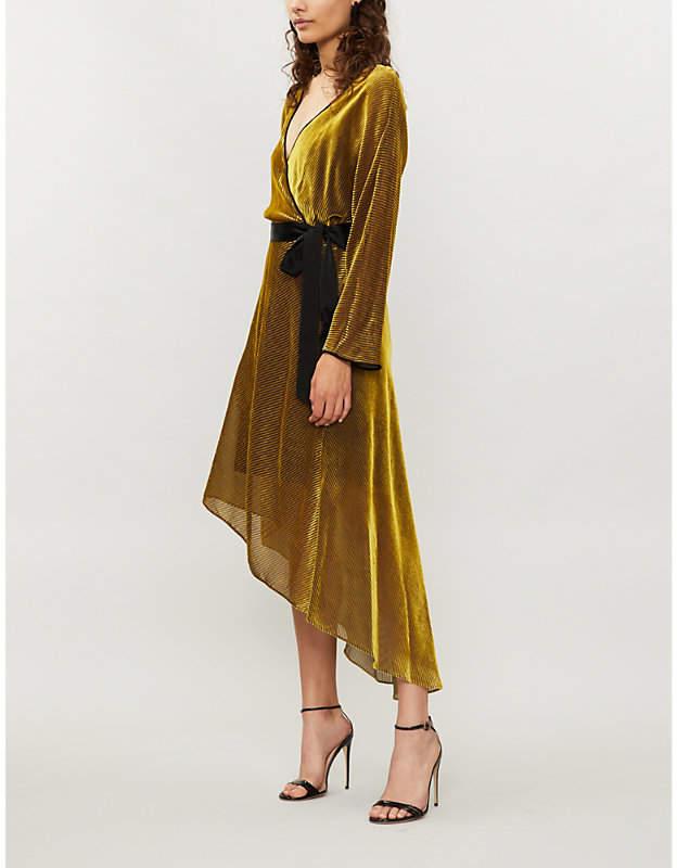 Eloise velvet midi wrap dress