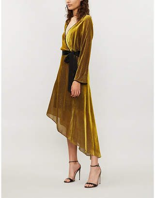 Diane von Furstenberg Eloise velvet midi wrap dress