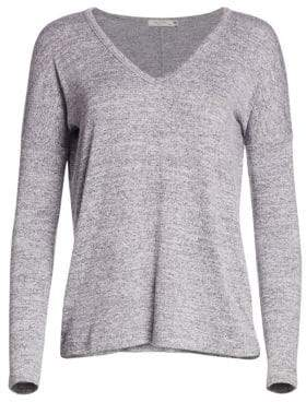 Rag & Bone Rag& Bone Rag& Bone Women's Theo Long Sleeve V-Neck Tee - Bright White - Size XS