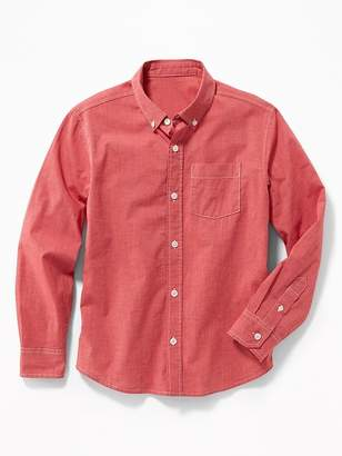 Old Navy Built-In Flex Classic Poplin Shirt for Boys