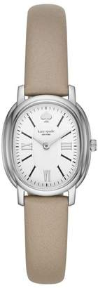 Kate Spade Staten Leather Strap Watch, 25mm X 33mm