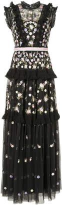 Needle & Thread sleeveless ruffle dress