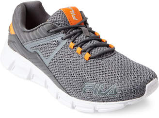 Fila Grey & Orange Cambino Running Sneakers