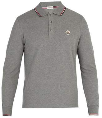mens moncler long sleeve polo shirt