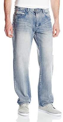 Ecko Unlimited Unltd. Men's Loose Fit 5 Pocket Long Bottom Denim Jean