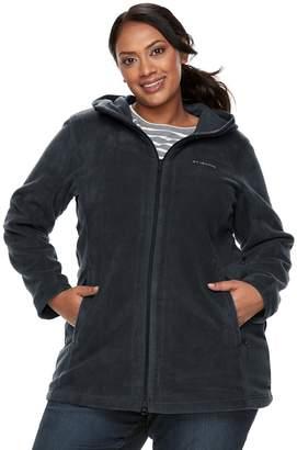Columbia Plus Size Three Lakes Hooded Long Fleece Jacket