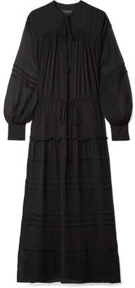 Lee Mathews - Meredith Silk-georgette Maxi Dress - Black