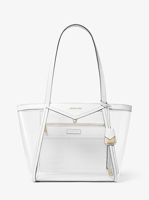 MICHAEL Michael Kors Whitney Large Clear and Leather Tote Bag