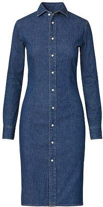 Polo Ralph Lauren Stretch Denim Shirtdress $245 thestylecure.com