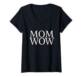 Glamorous Womens Mom Wow Beautiful Amazing Mother Mommy Mum V-Neck T-Shirt