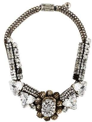Shourouk Crystal & Sequin Collar Necklace