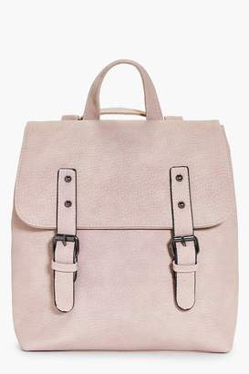 boohoo Buckle Detail Structured Backpack