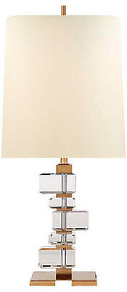 Visual Comfort & Co. Moreau Crystal Table Lamp - Antiqued Brass