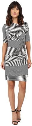 Christin Michaels Eugina Twisted Front Short Sleeve Dress $69 thestylecure.com