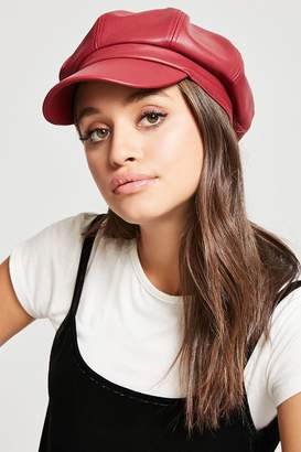 Forever 21 Faux Leather Cabby Hat