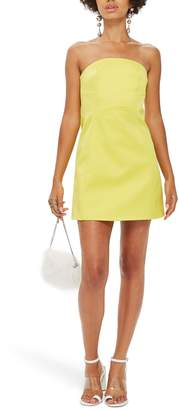 Topshop Bonded Crepe Minidress