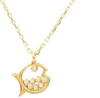 Latelita - Bubble Fish Pendant Necklace Gold