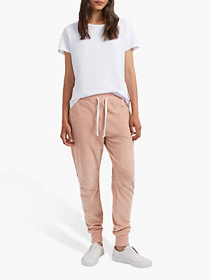 French Connection Ruthie Cotton Jogger Trousers, Ballet Blush