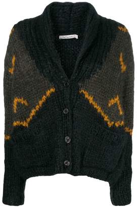 Mes Demoiselles chunky knit patterned cardigan