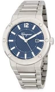 Salvatore Ferragamo Round Stainless Steel Bracelet Watch